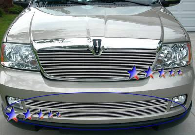Grilles - Custom Fit Grilles - APS - Lincoln Navigator APS Billet Grille - Bumper - Stainless Steel - L85018S