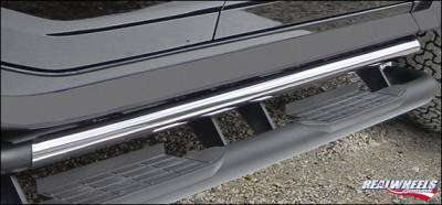 Suv Truck Accessories - Running Boards - RealWheels - Hummer H2 RealWheels Upper Tube - Facade Only - Polished Stainless Steel - Pair - RW400-1-A0102
