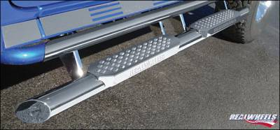 Suv Truck Accessories - Running Boards - RealWheels - Hummer H2 RealWheels Straight Tube with Step - Upper Tube Facade - Stainless Steel - Kit - RW402-4-A0102