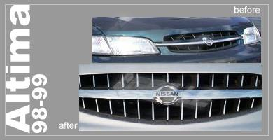 Grilles - Custom Fit Grilles - Custom - Chrome Grille Kit