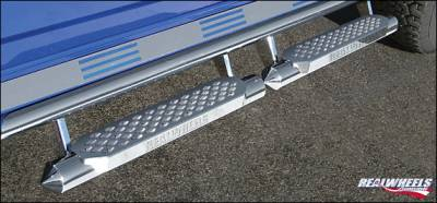 Suv Truck Accessories - Running Boards - RealWheels - Hummer H2 RealWheels Torpedo Tube with StepUpper Full Tube Fa�ade - Stainless Steel - Kit - RW403-4-A0102