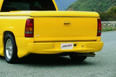 Silverado - Rear Bumper - Xenon - Chevrolet Silverado Xenon Rear Bumper Cover - 4198