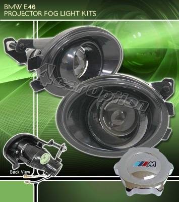 Headlights & Tail Lights - Fog Lights - Custom - Black projector Fog Light kit