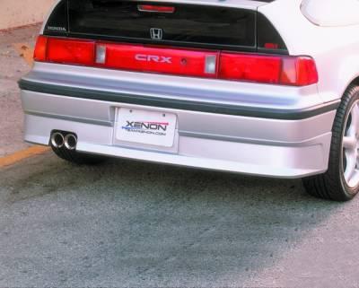 CRX - Rear Bumper - Xenon - Honda CRX Xenon Rear Valance - 5204