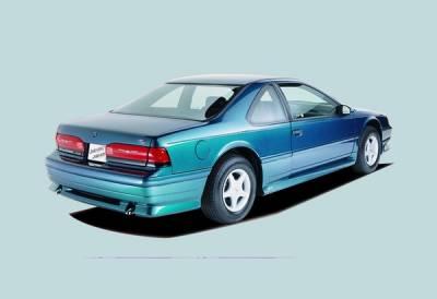Thunderbird - Rear Bumper - Xenon - Ford Thunderbird Xenon Rear Valance with Optional Dual Exhaust Cut Out - 5284
