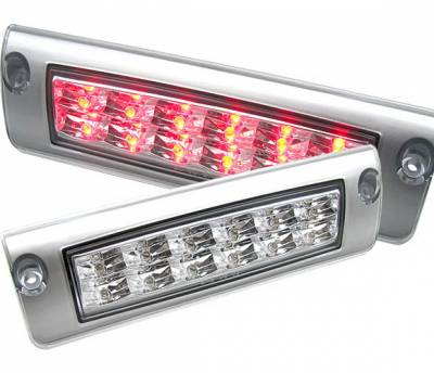 Headlights & Tail Lights - Third Brake Lights - 4 Car Option - Pontiac Firebird 4 Car Option LED Third Brake Light - Silver - LB3-PFB93LEDCS