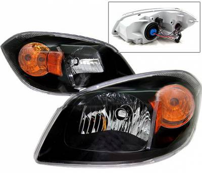 Headlights & Tail Lights - Headlights - 4 Car Option - Chevrolet Cobalt 4 Car Option Headlights - Black - LH-CCBT05B-KS