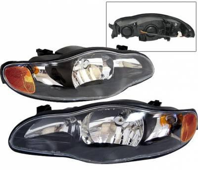 Headlights & Tail Lights - Headlights - 4 Car Option - Chevrolet Monte Carlo 4 Car Option Headlights - Black - LH-CMC00B-KS