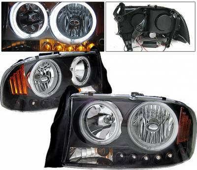Headlights & Tail Lights - Headlights - 4 Car Option - Dodge Dakota 4 Car Option Halo Headlights - Black CCFL - LH-DD97B-KS-CCFL