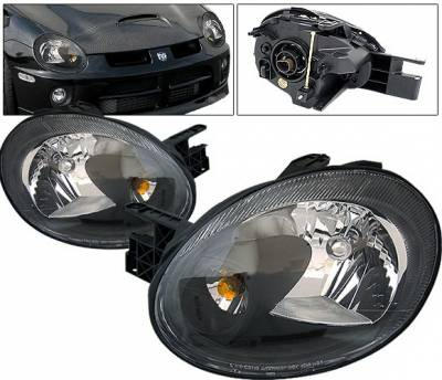 Headlights & Tail Lights - Headlights - 4 Car Option - Dodge Neon 4 Car Option Headlights - Black - LH-DN03B-KS