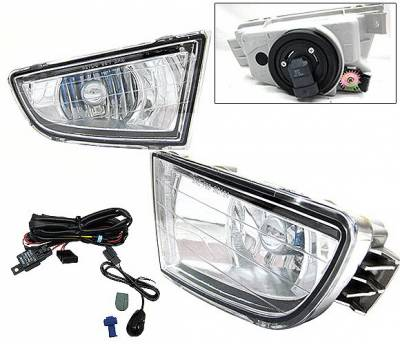 4 Car Option - Acura MDX 4 Car Option Fog Light Kit - Clear - LHF-AMDXC