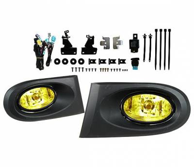 Headlights & Tail Lights - Fog Lights - 4 Car Option - Acura RSX 4 Car Option Fog Light Kit - Yellow - LHF-ARX-YL