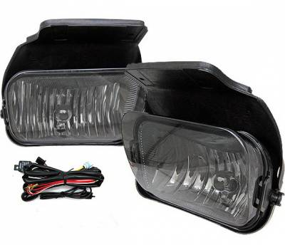 Headlights & Tail Lights - Fog Lights - 4 Car Option - Chevrolet Silverado 4 Car Option Fog Light Kit - Smoke - LHF-CSV03SM