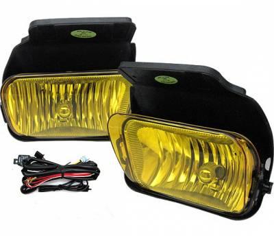 Headlights & Tail Lights - Fog Lights - 4 Car Option - Chevrolet Silverado 4 Car Option Fog Light Kit - Yellow - LHF-CSV03-YL