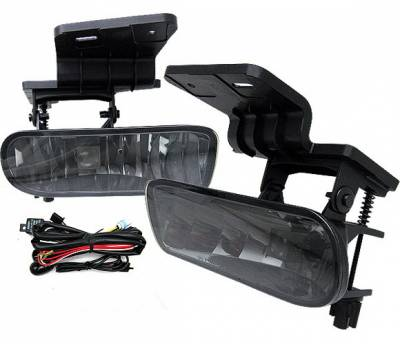 Headlights & Tail Lights - Fog Lights - 4 Car Option - Chevrolet Silverado 4 Car Option Fog Light Kit - Smoke - LHF-CSV99SM