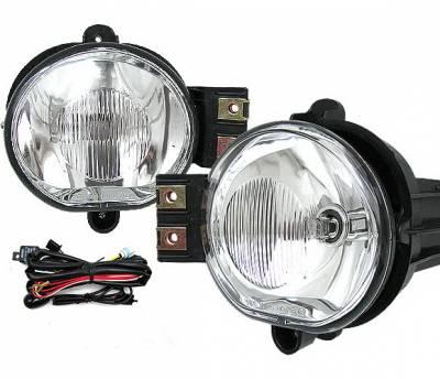 Headlights & Tail Lights - Fog Lights - 4 Car Option - Dodge Ram 4 Car Option Fog Light Kit with Bulb & Switch - Clear - LHF-DR02C