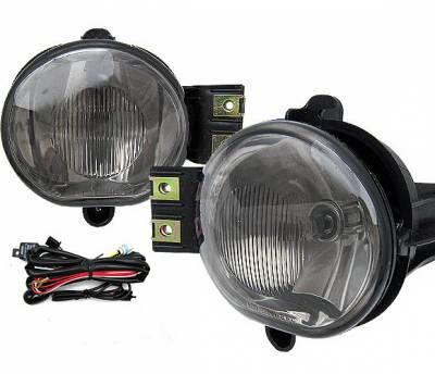 Headlights & Tail Lights - Fog Lights - 4 Car Option - Dodge Ram 4 Car Option Fog Light Kit with Bulb & Switch - Smoke - LHF-DR02SM