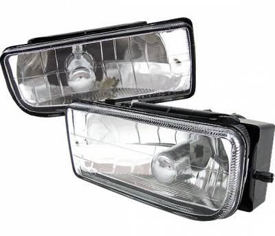 Headlights & Tail Lights - Fog Lights - 4 Car Option - BMW 3 Series 2DR 4 Car Option Fog Light Kit - Clear - LHF-E3620
