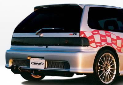 Civic HB - Rear Bumper - Wings West - Honda Civic HB Wings West Racing Series Rear Bumper Cover - 890179