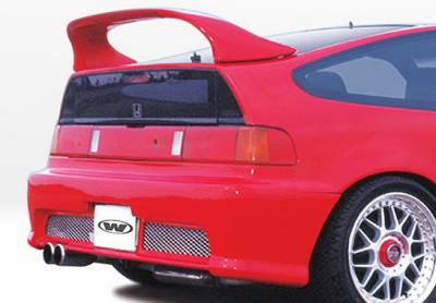 CRX - Rear Bumper - Wings West - Honda CRX Wings West Racing Series Rear Bumper Cover - 890330