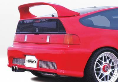 CRX - Rear Bumper - VIS Racing - Honda CRX VIS Racing Racing Series Rear Bumper Cover - Polyurethane - 890330