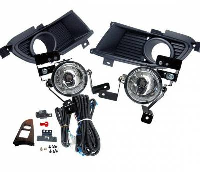 Headlights & Tail Lights - Fog Lights - 4 Car Option - Mitsubishi Evolution 8 4 Car Option Fog Light Kit - Clear - LHF-EVO
