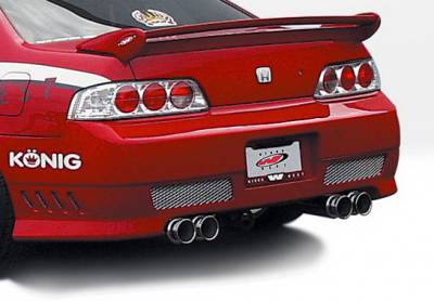 Prelude - Rear Bumper - Wings West - Honda Prelude Wings West Avenger Rear Bumper Cover - 890547