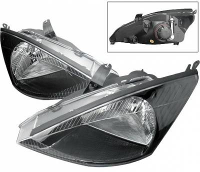 Headlights & Tail Lights - Headlights - 4 Car Option - Ford Focus 4 Car Option Headlights - Black - LH-FF00BC-KS