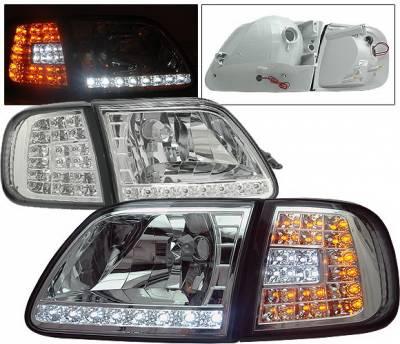 Headlights & Tail Lights - Headlights - 4CarOption - Ford Expedition 4CarOption LED Headlights - LH-FF15097LEDC-6