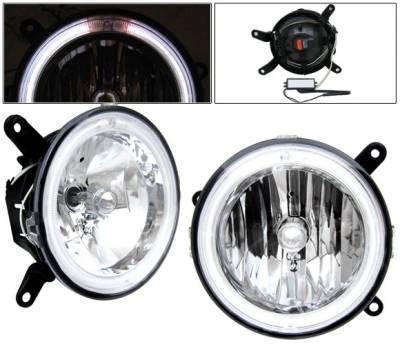 Headlights & Tail Lights - Fog Lights - 4 Car Option - Ford Mustang 4 Car Option Halo Fog Light Kit - Clear - LHF-FM05CR
