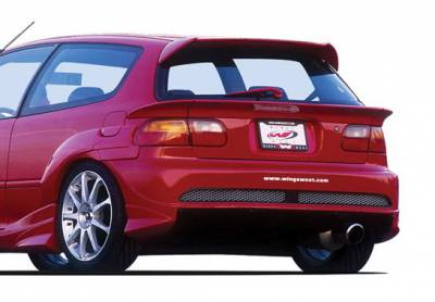 Civic HB - Rear Bumper - Wings West - Honda Civic HB Wings West Voltex Rear Bumper Cover - 890723