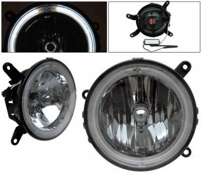 Headlights & Tail Lights - Fog Lights - 4 Car Option - Ford Mustang 4 Car Option Halo Fog Light Kit - Smoke - LHF-FM05SMR