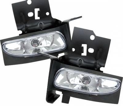 Headlights & Tail Lights - Fog Lights - 4 Car Option - Ford Mustang 4 Car Option Fog Light Kit - Clear - LHF-FM96C