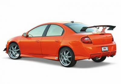 Neon 2Dr - Rear Bumper - Wings West - Dodge Neon Wings West Racing Series Rear Bumper Cover - 890796