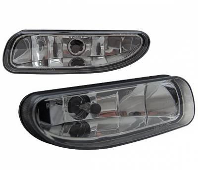 Headlights & Tail Lights - Fog Lights - 4 Car Option - Ford Mustang 4 Car Option Fog Light Kit without Bracket - Smoke - LHF-FM96SM-DP