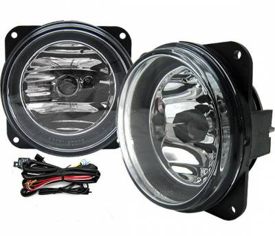 Headlights & Tail Lights - Fog Lights - 4 Car Option - Ford Mustang 4 Car Option Fog Light Kit with Switch - Clear - LHF-FM99SVTC