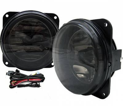 Headlights & Tail Lights - Fog Lights - 4 Car Option - Ford Mustang 4 Car Option Fog Light Kit with Switch - Smoke - LHF-FM99SVTSM