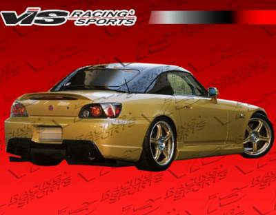 S2000 - Rear Bumper - VIS Racing - Honda S2000 VIS Racing Wings Rear Bumper - 00HDS2K2DWIN-002