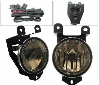 Headlights & Tail Lights - Fog Lights - 4 Car Option - GMC Yukon 4 Car Option Fog Light Kit with Switch - Smoke - LHF-GY00SM