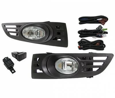 Headlights & Tail Lights - Fog Lights - 4 Car Option - Honda Accord 2DR 4 Car Option Fog Light Kit - Clear - LHF-HA032