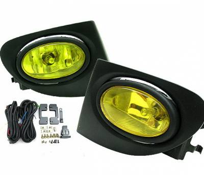Headlights & Tail Lights - Fog Lights - 4 Car Option - Honda Civic HB 4 Car Option Fog Light Kit - Yellow - LHF-HC02SI-YL