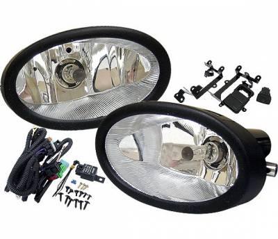 Headlights & Tail Lights - Fog Lights - 4 Car Option - Honda Civic 2DR 4 Car Option Fog Light Kit - Clear - LHF-HC062C