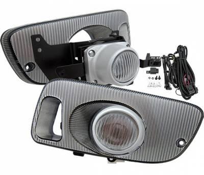 Headlights & Tail Lights - Fog Lights - 4 Car Option - Honda Civic 2DR 4 Car Option Fog Light Kit - Clear - LHF-HC923C