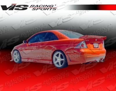 Civic 2Dr - Rear Bumper - VIS Racing - Honda Civic 2DR VIS Racing TSC-3 Rear Bumper - 01HDCVC2DTSC3-002