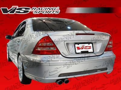 C Class - Rear Bumper - VIS Racing - Mercedes-Benz C Class VIS Racing C-Tech Rear Bumper - 01MEW2034DCTH-002