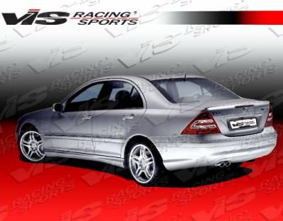C Class - Rear Bumper - VIS Racing - Mercedes-Benz C Class VIS Racing Euro Tech Rear Bumper - 01MEW2034DET-002