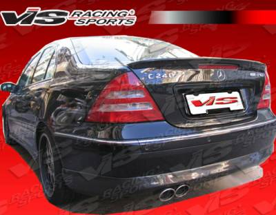 C Class - Rear Bumper - VIS Racing - Mercedes-Benz C Class VIS Racing Euro Tech-2 Rear Lip - 01MEW2034DET2-012