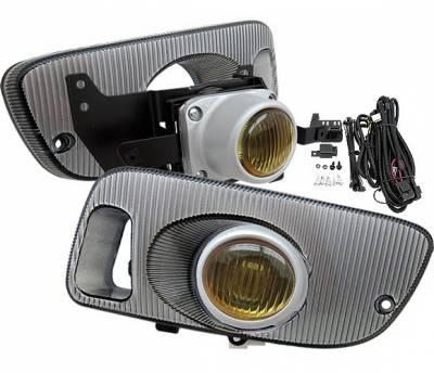 Headlights & Tail Lights - Fog Lights - 4 Car Option - Honda Civic 2DR 4 Car Option Fog Light Kit - Yellow - LHF-HC923YL