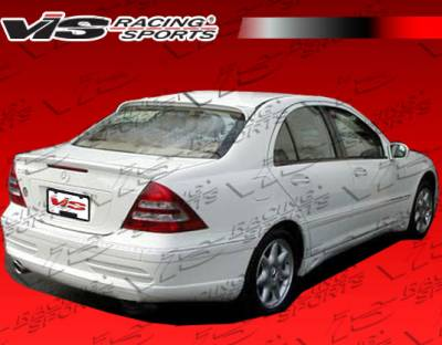 C Class - Rear Bumper - VIS Racing - Mercedes-Benz C Class VIS Racing Laser-1 Rear Bumper Single Exhaust - 01MEW2034DLS1-002