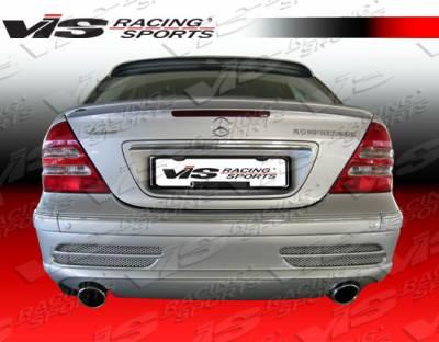 C Class - Rear Bumper - VIS Racing - Mercedes-Benz C Class VIS Racing Laser-2 Rear Bumper Dual Exhaust - 01MEW2034DLS2-002